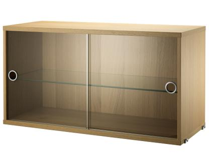 String System Display Cabinet With Sliding Glass Doors