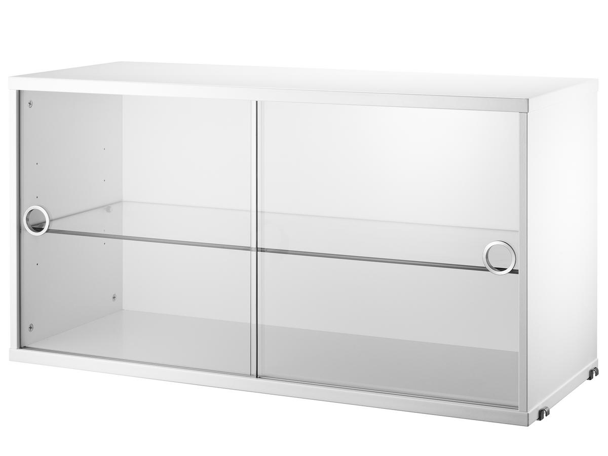 String System Display Cabinet With Sliding Glass Doors By Nisse