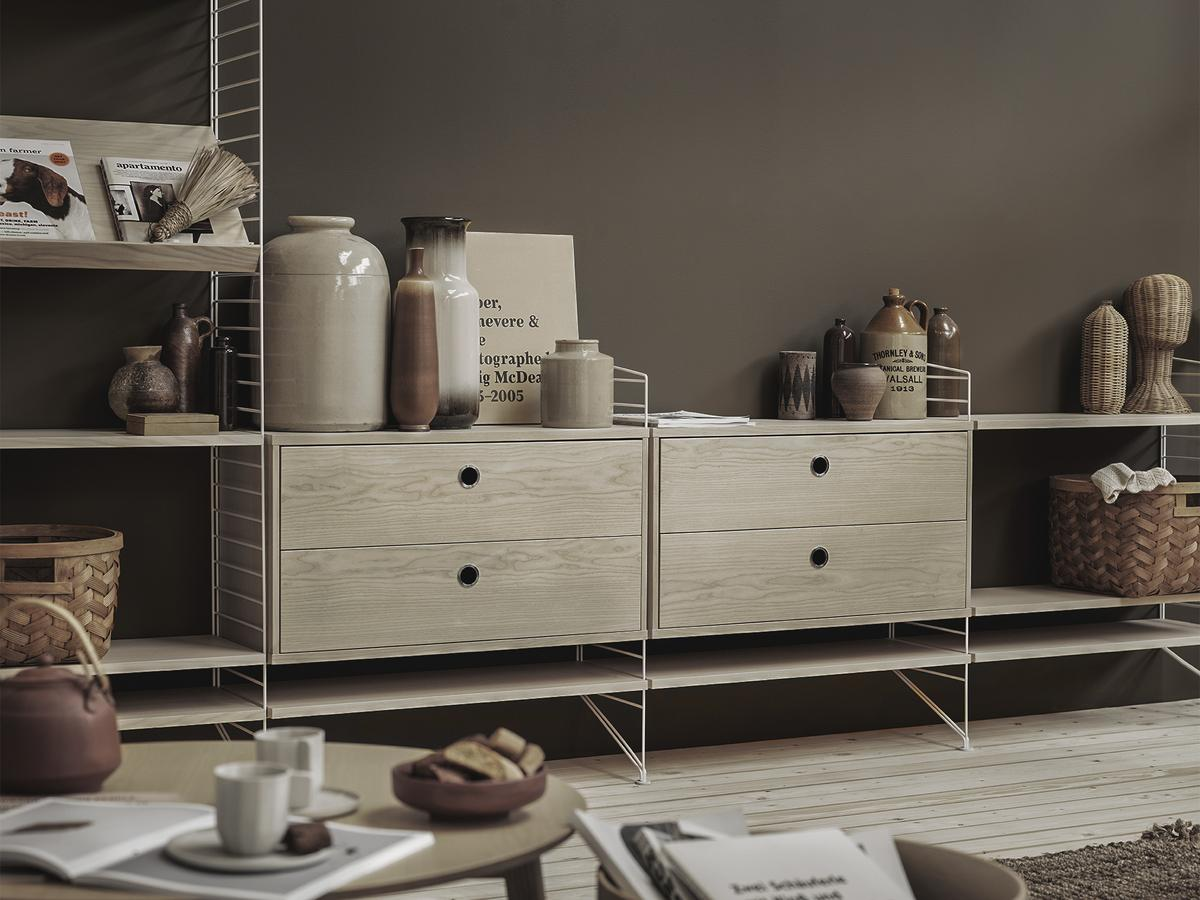String system drawer unit by nisse strinning 1949 for Room configurator