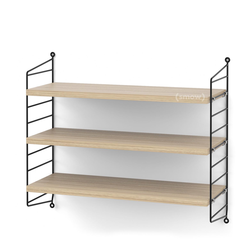 String System Shelf S 20 Cm Black Oak Veneer By Nisse Strinning