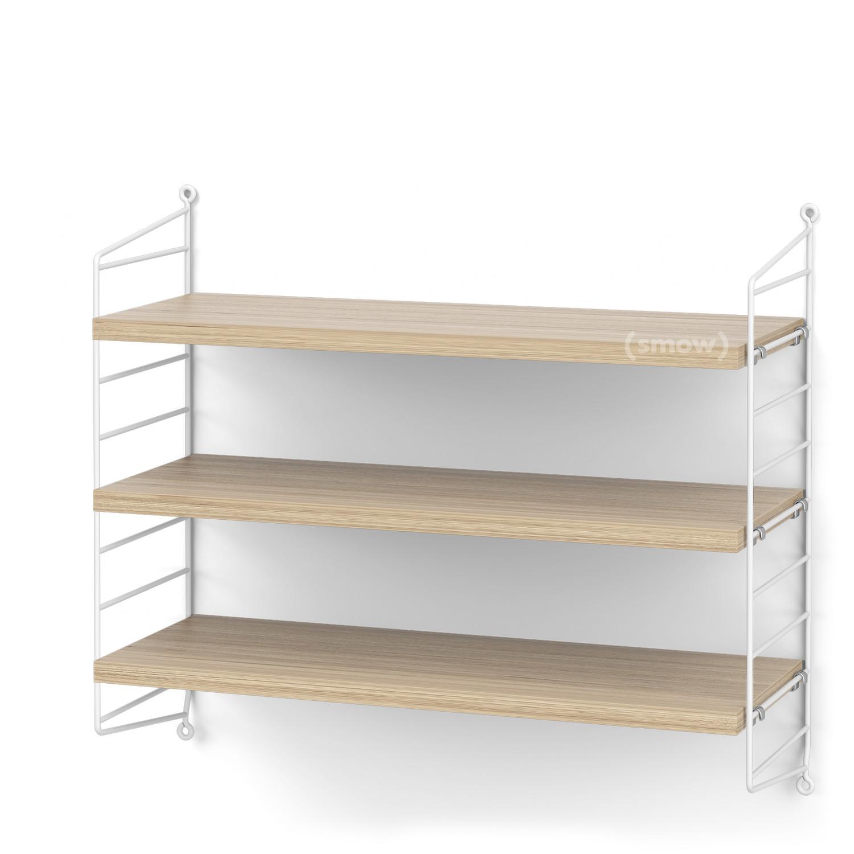 String System Shelf S 20 Cm White Oak Veneer By Nisse Strinning