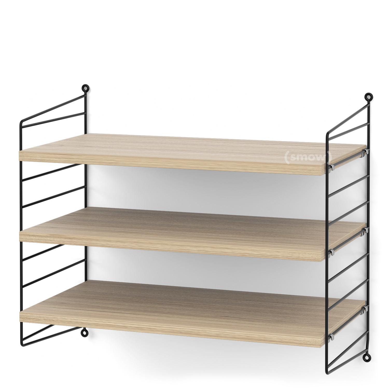 String System Shelf S 30 Cm Black Oak Veneer By Nisse Strinning
