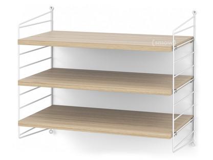 String System Shelf S 30 Cm|White|Oak Veneer