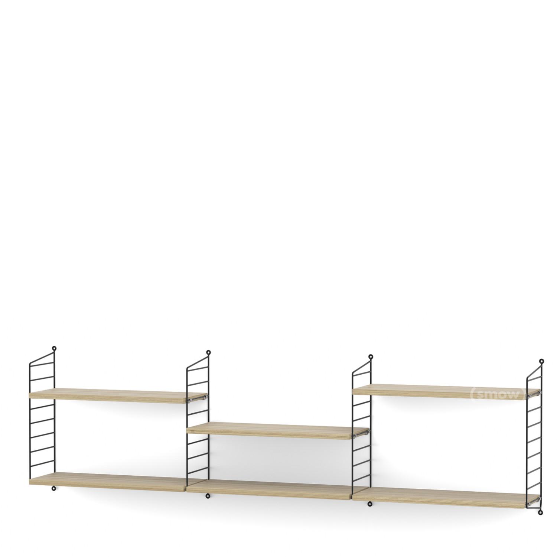 String System Shelf L 20 Cm Black Oak Veneer By Nisse Strinning