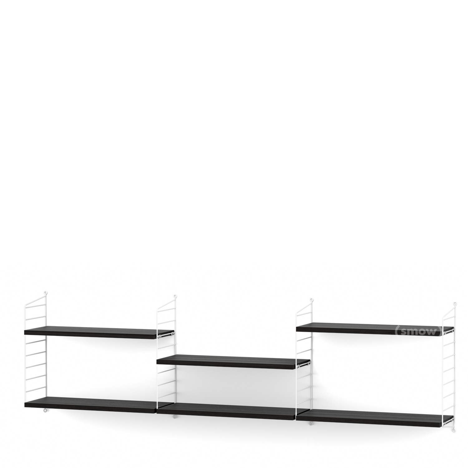 String System Shelf L 20 Cm White Black Ash Veneer By Nisse