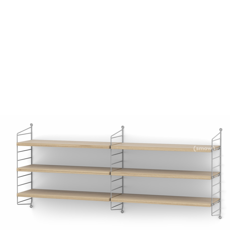 String System Shelf M 20 Cm Grey Oak Veneer By Nisse Strinning