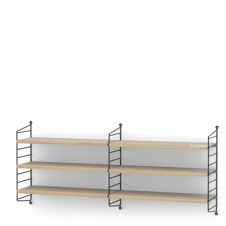 String System Shelf M 20 Cm Black Oak Veneer By Nisse Strinning