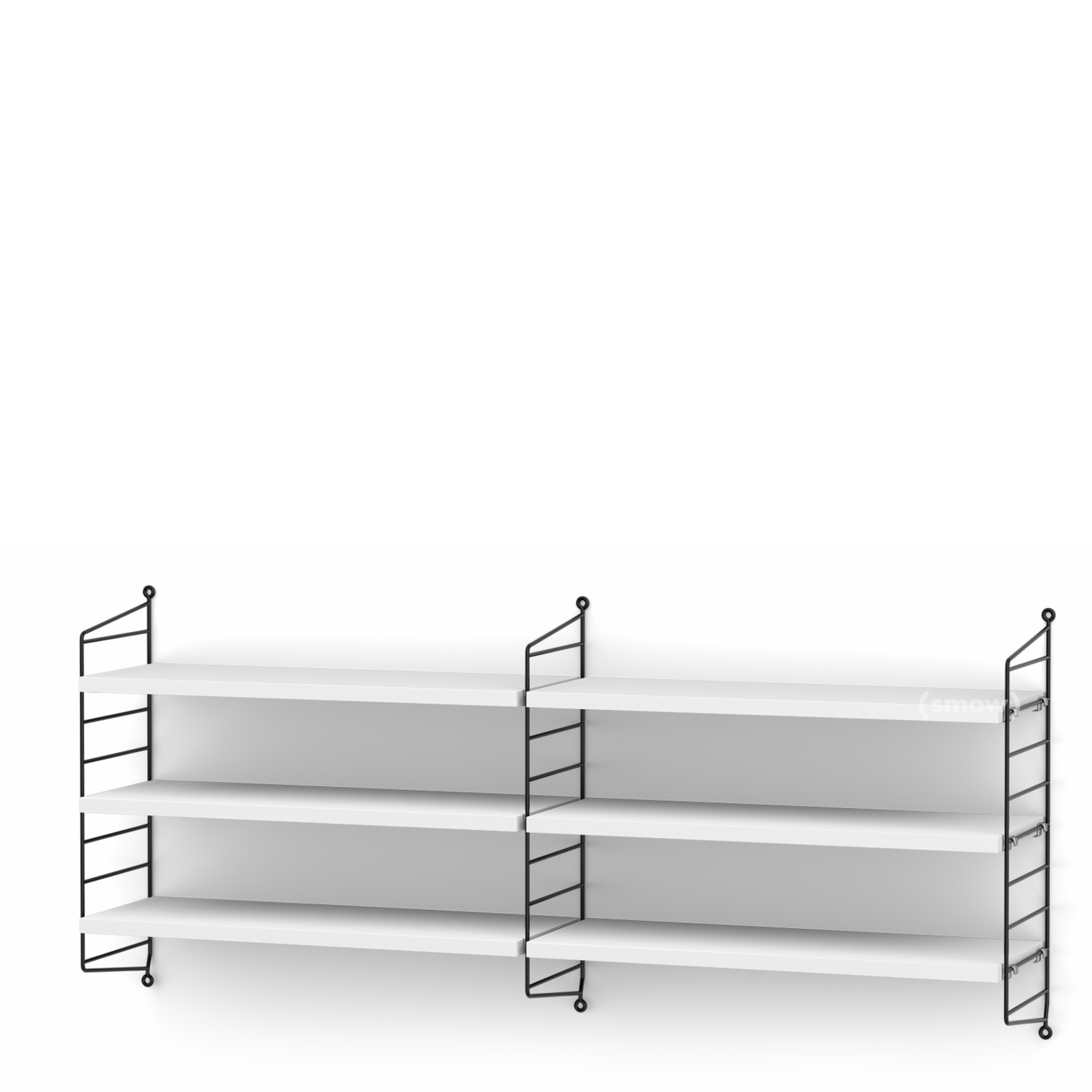String System Shelf M 20 Cm Black White Lacquered By Nisse