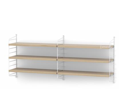 String System Shelf M 20 cm White Oak veneer