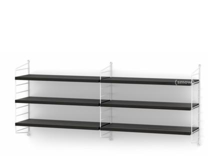 String System Shelf M 20 cm|White|Black ash veneer