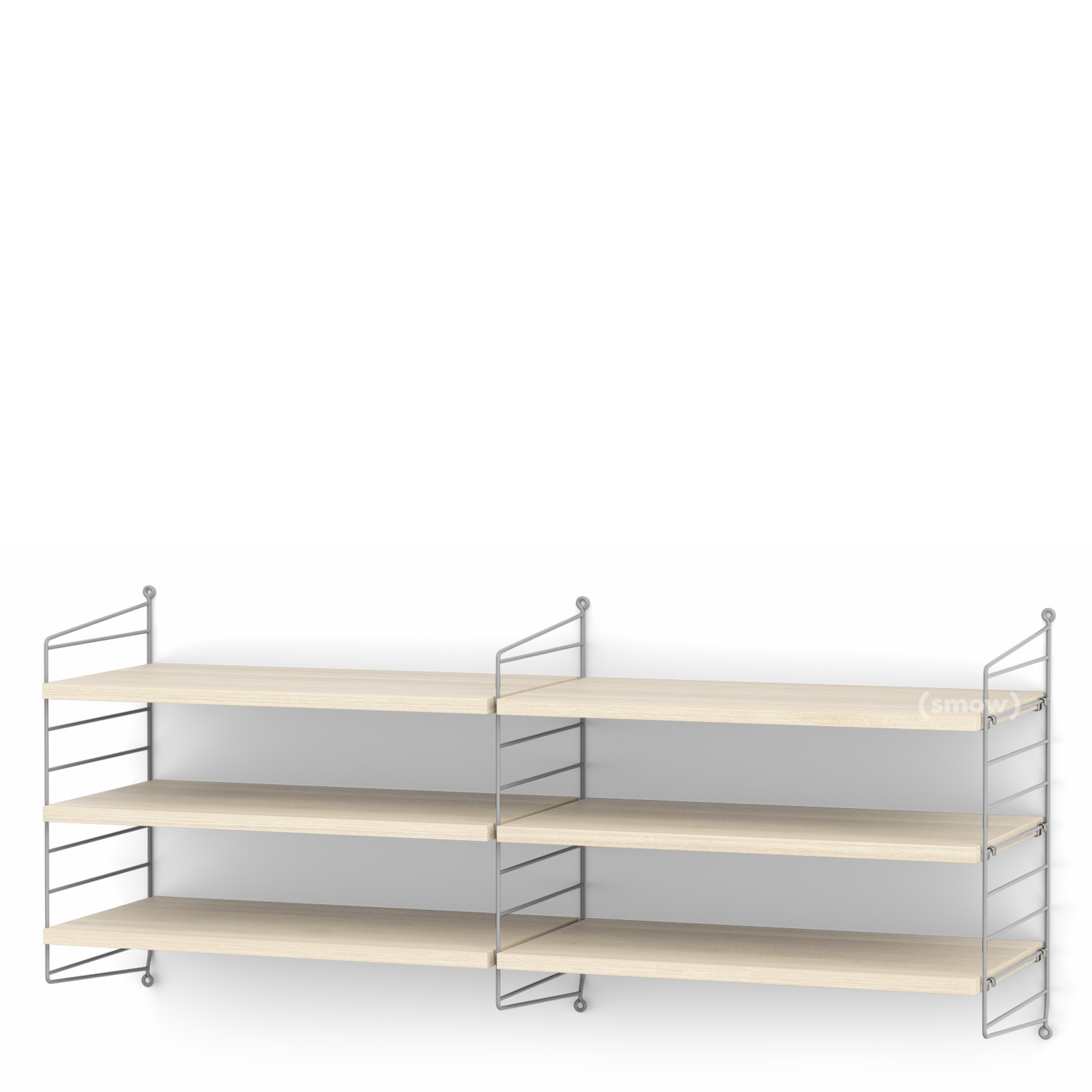 String System Shelf M 30 Cm Grey Ash Veneer By Nisse Strinning