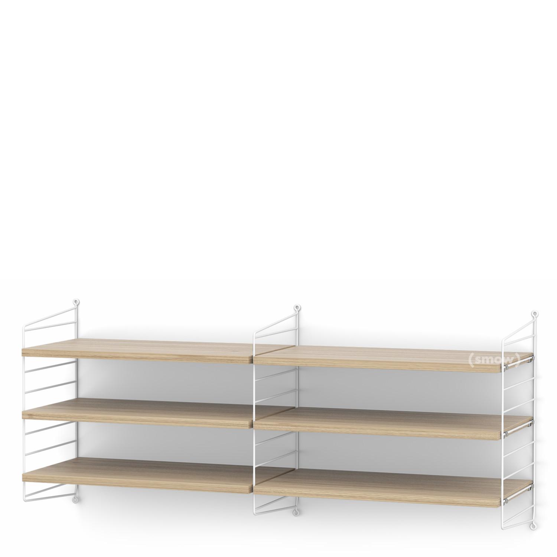 String System Shelf M 30 Cm White Oak Veneer By Nisse Strinning