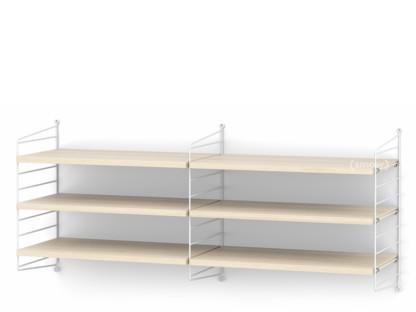 String System Shelf M 30 Cm|White|Ash Veneer