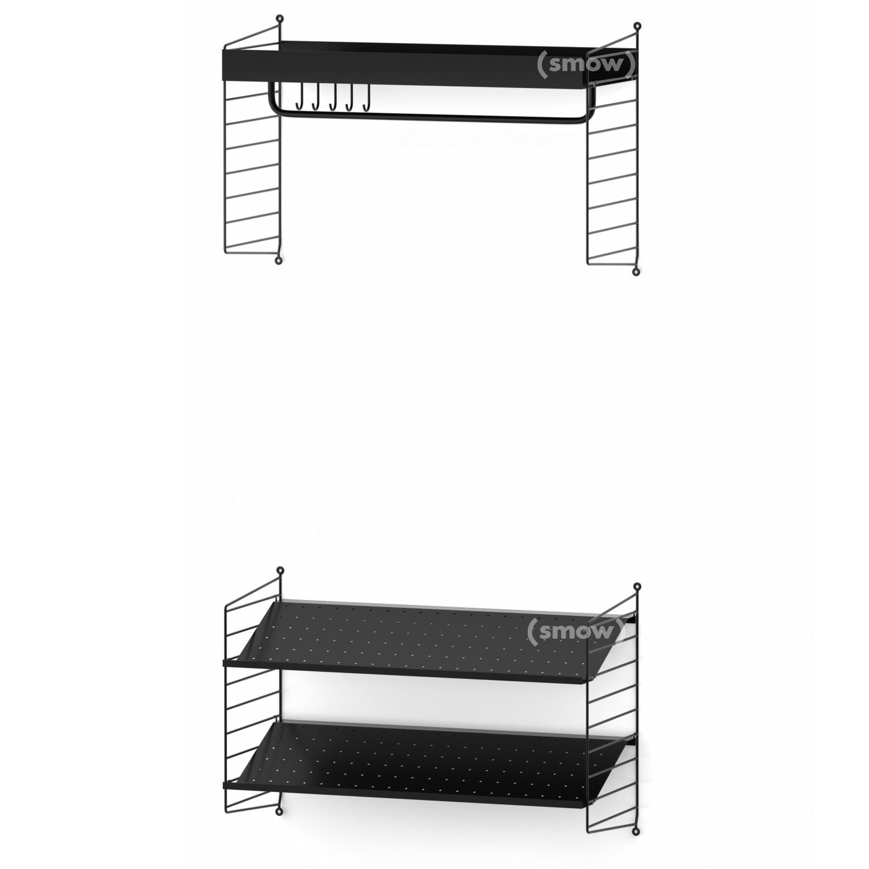 string system coat rack by nisse strinning 1949 designer furniture by. Black Bedroom Furniture Sets. Home Design Ideas