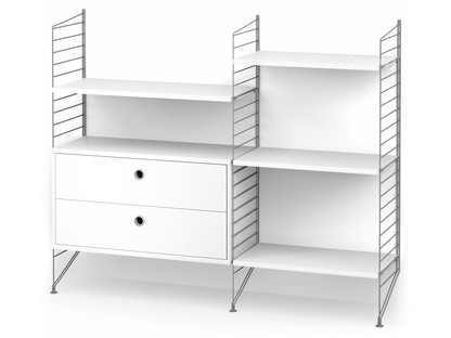 String System Floor Shelf with Drawers