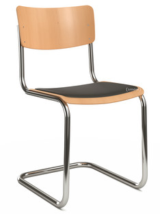 S 43 Classic Chrome-plated frame Stained beech Natural beech (TP 17) Seat pad with upholstery black