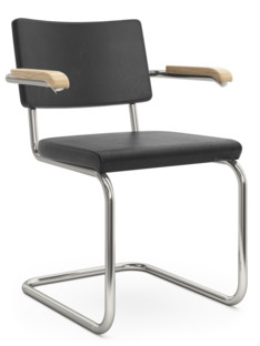 S 32 PV / S 64 PV Pure Materials Nappa Leather black|Nickel plated|Oak|With armrests