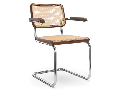 S 64 / S 64 N Cane-work (with supporting mesh underneath seat)|Dark brown stained beech
