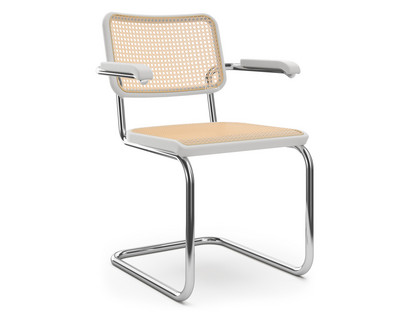 S 64 / S 64 N Cane-work (with supporting mesh underneath seat)|White varnished beech