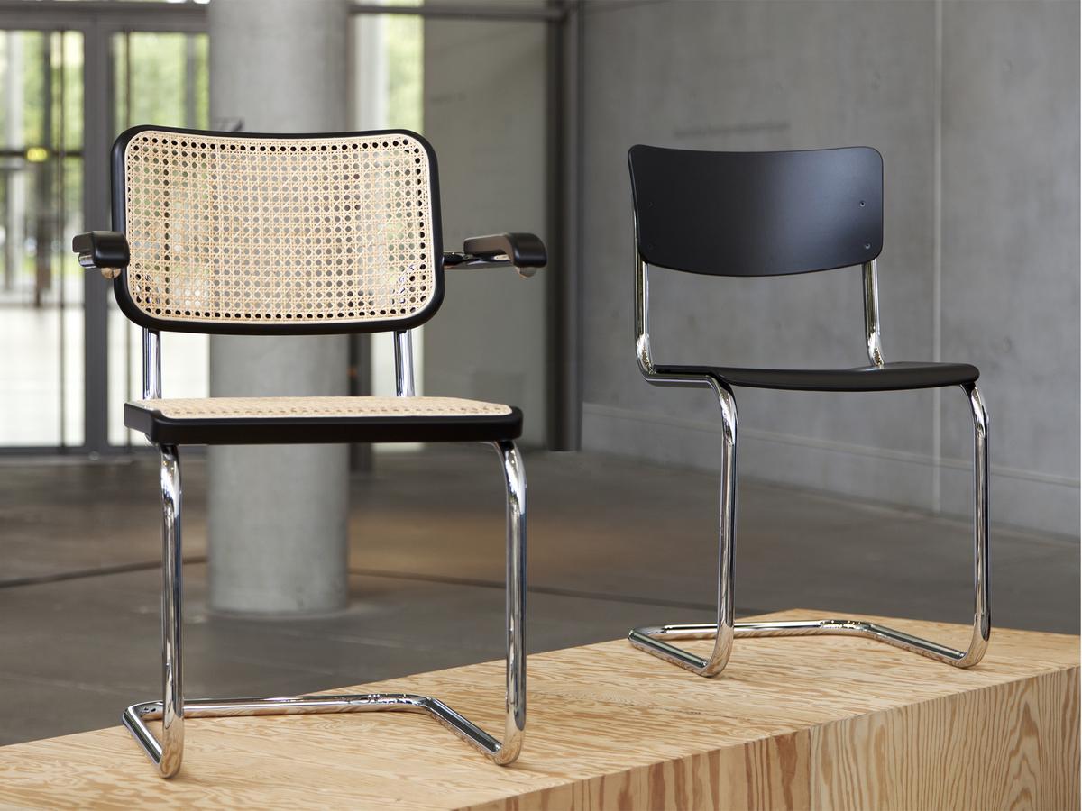 thonet s 64 s 64 n by marcel breuer 1929 30 artistic copyright by mart stam designer. Black Bedroom Furniture Sets. Home Design Ideas