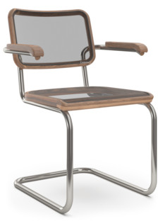 S 32 N / S 64 N Pure Materials Oiled Walnut|Nickel plated|With armrests