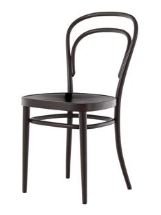 214 Without armrests|Black stained beech|Moulded plywood seat