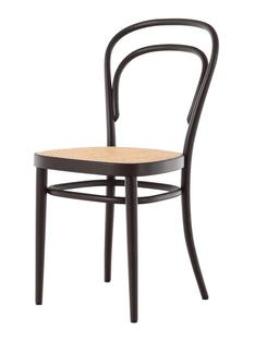 Superbe 214 Without Armrests|Black Stained Beech|Cane Work (with Supporting Mesh  Underneath