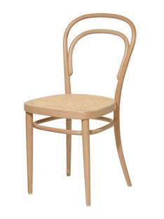 214 Without Armrests Natural Stained Beech Cane Work