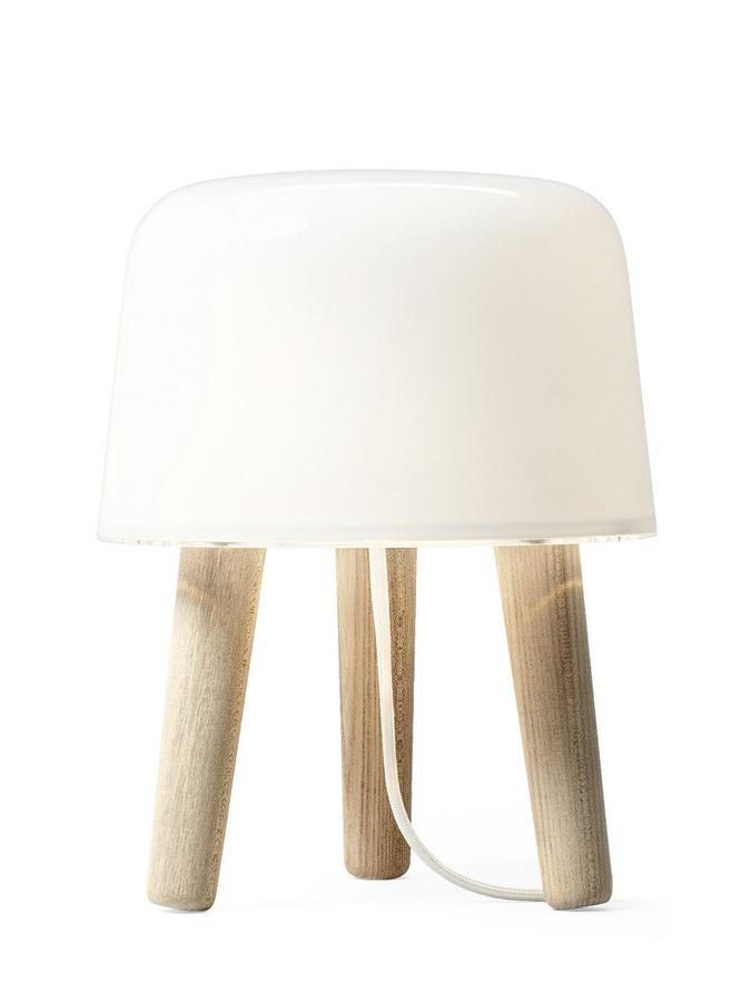 Tradition Milk Table Lamp Untreated Ash White Fabric Cord By Norm Architects 2010 Designer Furniture By Smow Com