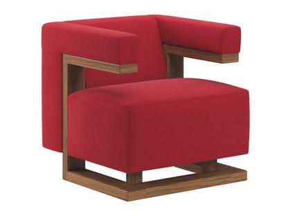 F51 Gropius Armchair Cavalry cloth|Red|Walnut