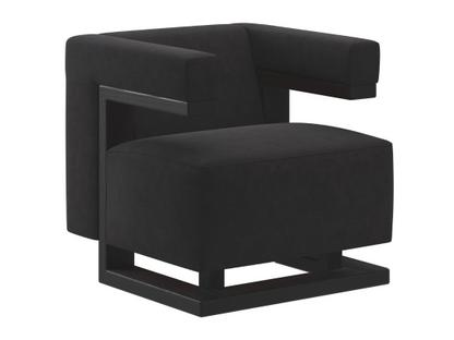 F51 Gropius Armchair Cavalry cloth|Black|Black lacquered ash