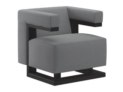 F51 Gropius Armchair Cavalry cloth|Silver-grey|Black lacquered ash