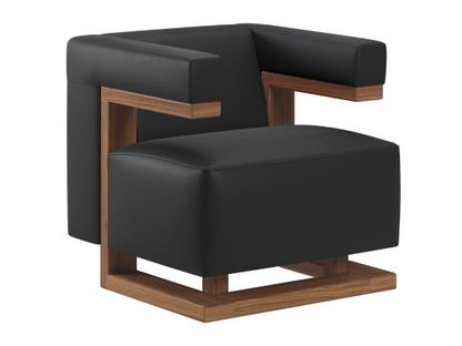 F51 Gropius Armchair Leather|Black|Walnut