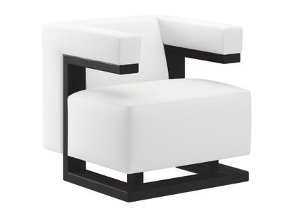 F51 Gropius Armchair Leather|White|Black lacquered ash