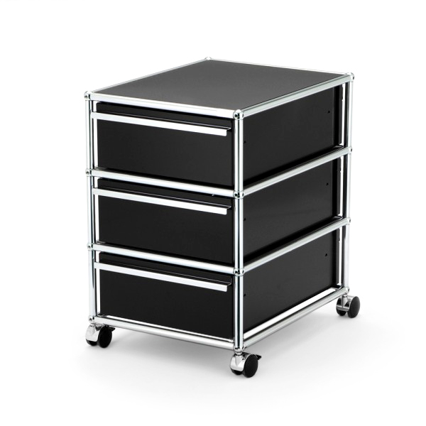 usm haller mobile pedestal with 3 drawers type i by fritz haller paul sch rer designer. Black Bedroom Furniture Sets. Home Design Ideas