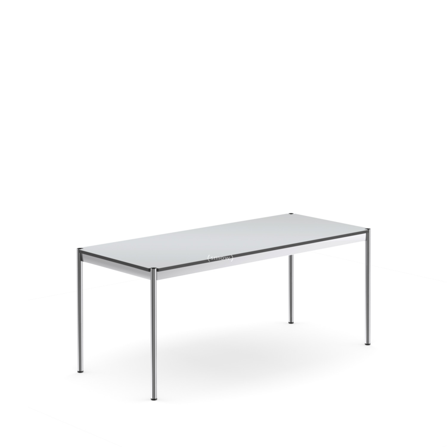 usm haller table 75 x 175 cm laminate pearl grey by. Black Bedroom Furniture Sets. Home Design Ideas