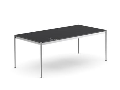 USM Haller Table 200 x 100 cm|Linoleum|Nero