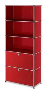 USM Haller Storage Unit with 2 Drop-down Doors