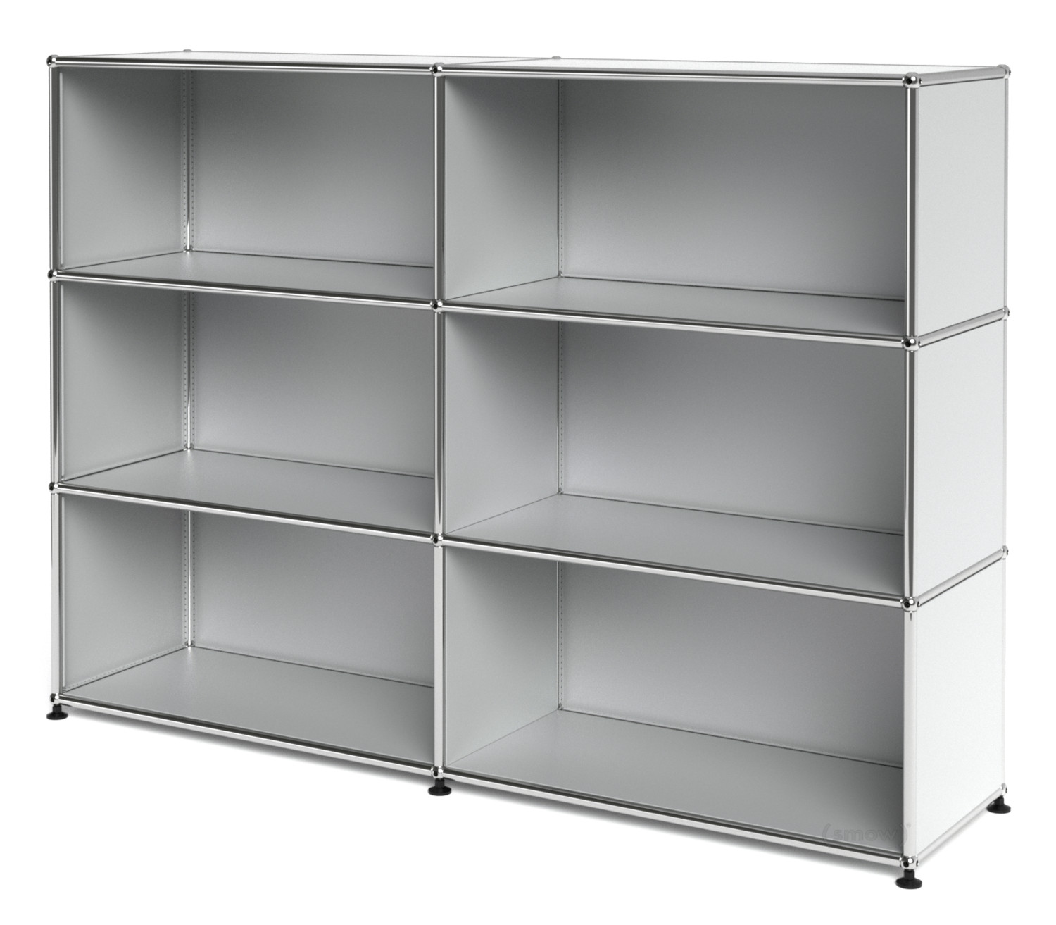 usm haller highboard l open usm matte silver by fritz. Black Bedroom Furniture Sets. Home Design Ideas