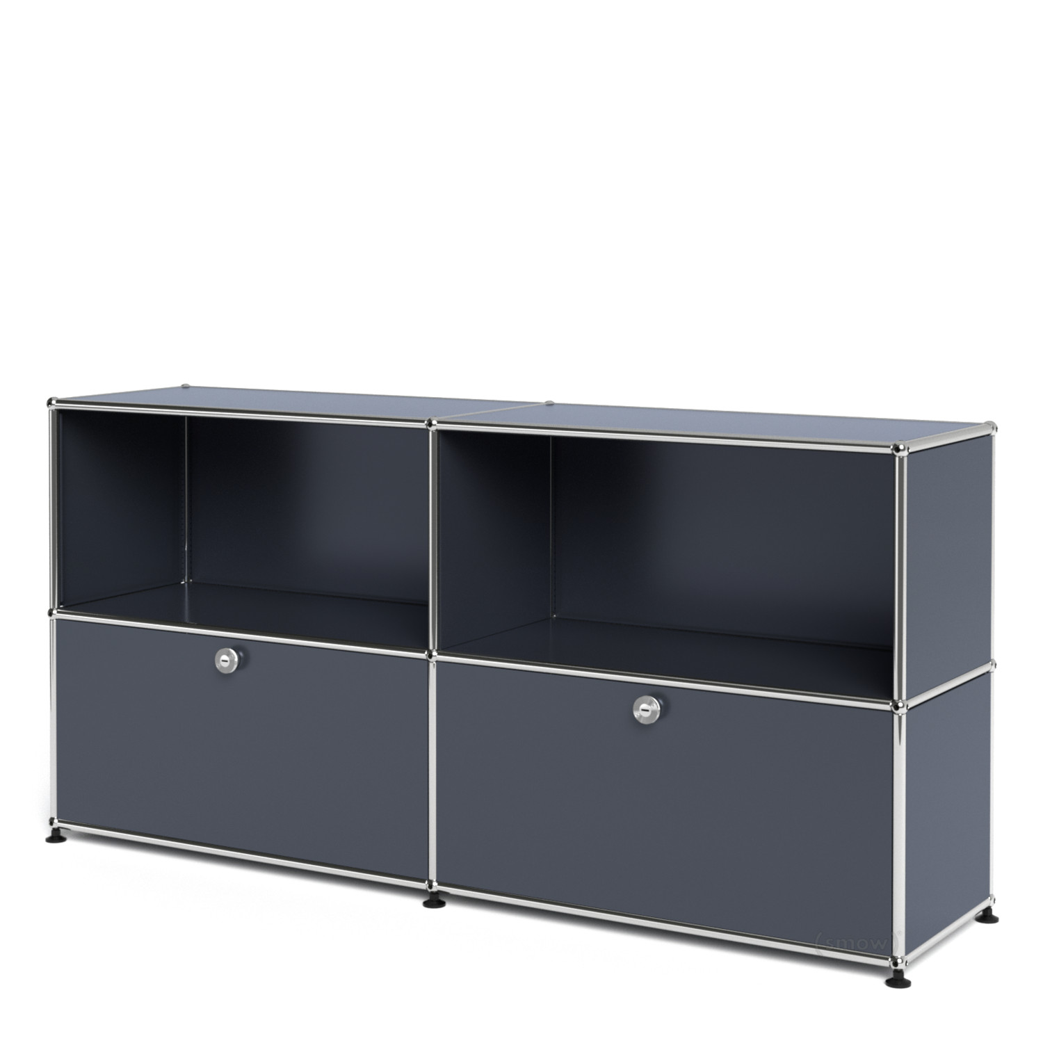 usm haller sideboard l with 2 drop down doors anthracite. Black Bedroom Furniture Sets. Home Design Ideas