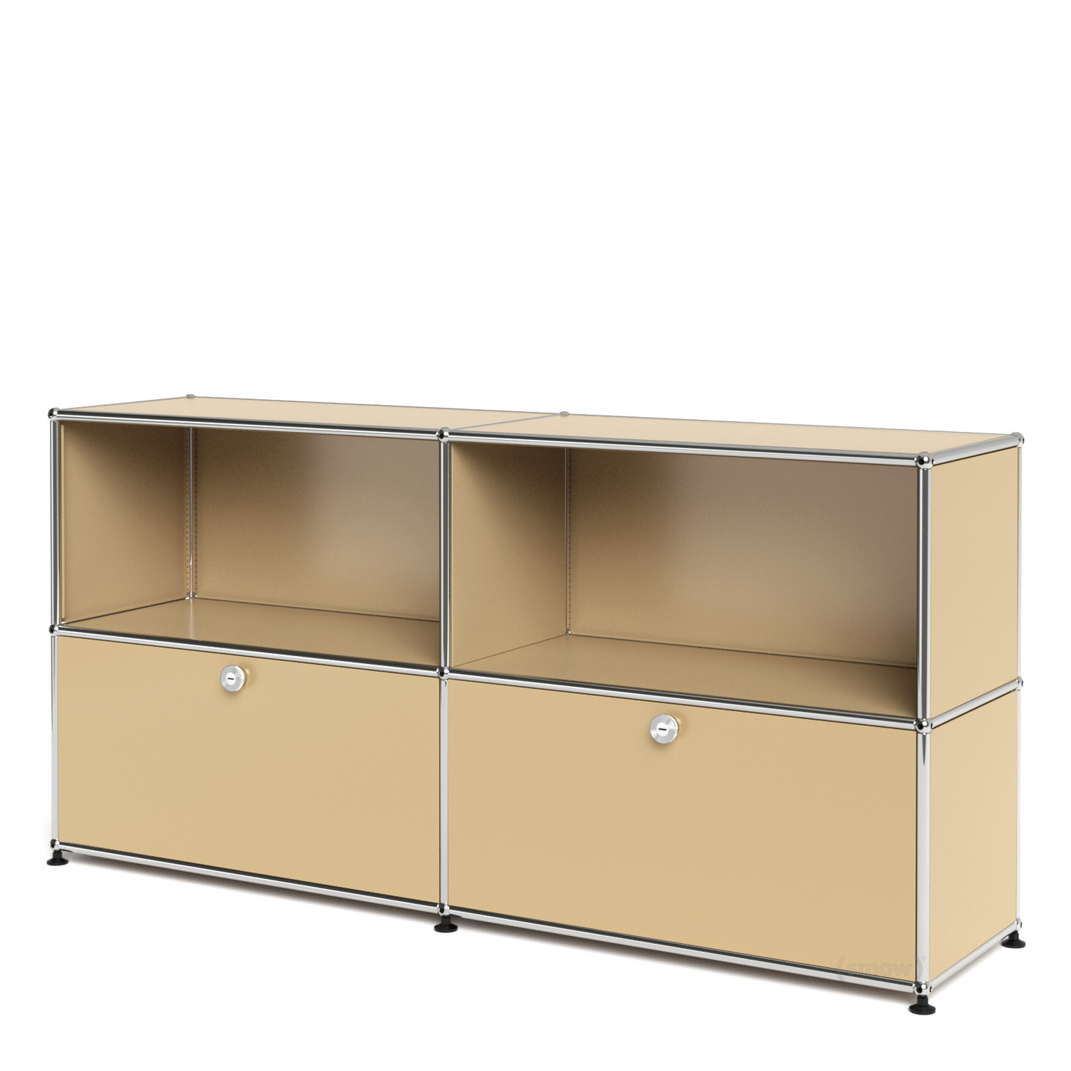 Usm haller sideboard l with 2 drop down doors usm beige for Sideboard usm