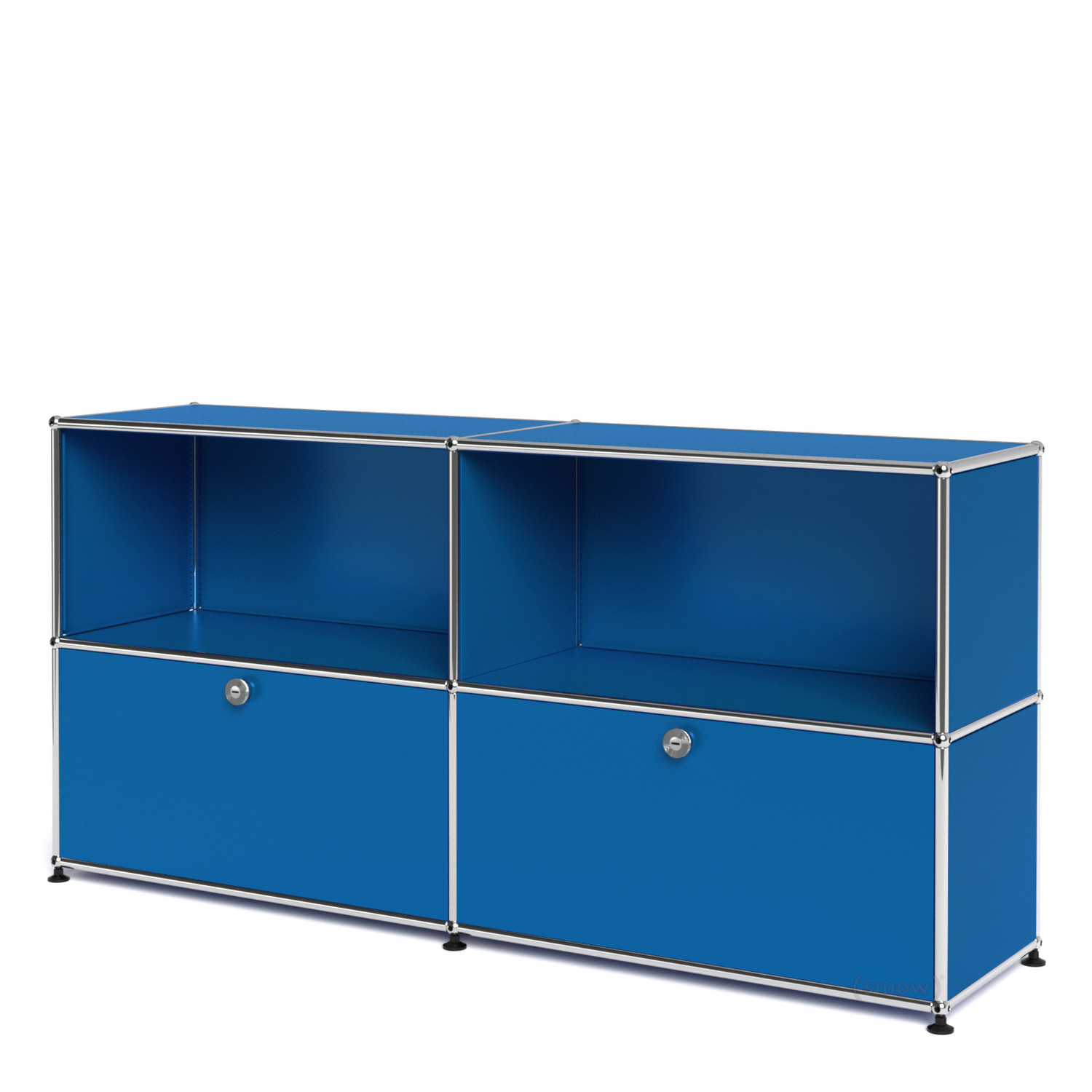Usm haller sideboard l with 2 drop down doors gentian for Sideboard usm