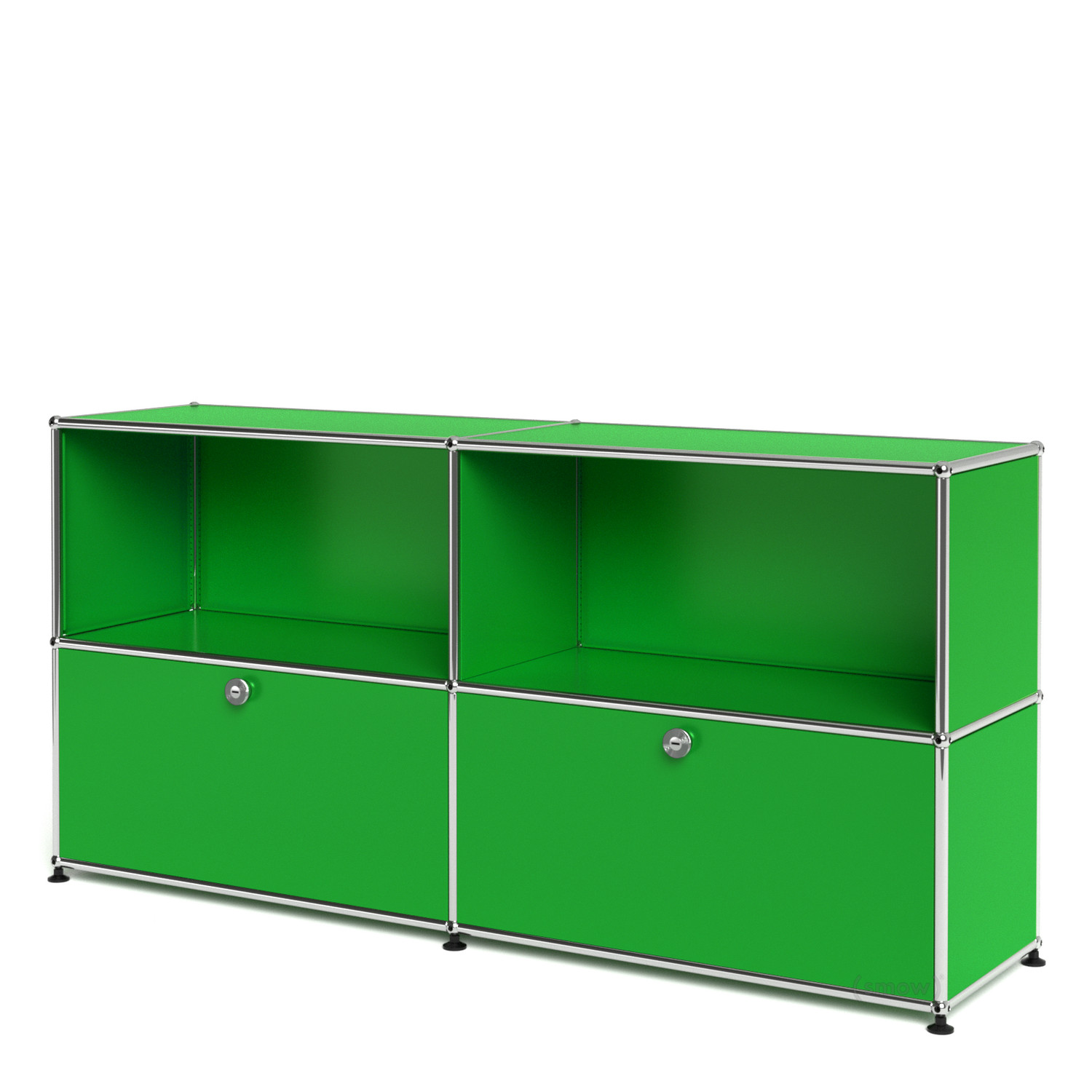 Usm haller sideboard l with 2 drop down doors usm green for Usm haller sideboard weiay