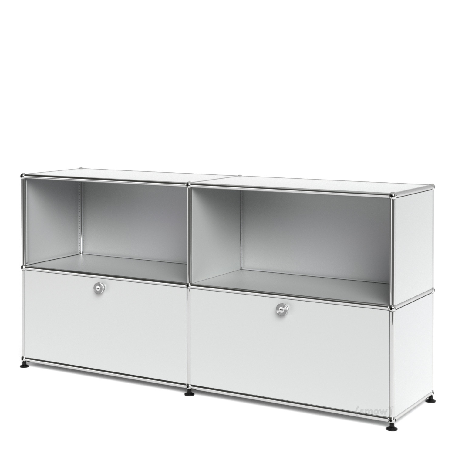 Usm haller sideboard l with 2 drop down doors usm matte for Usm haller sideboard weiay