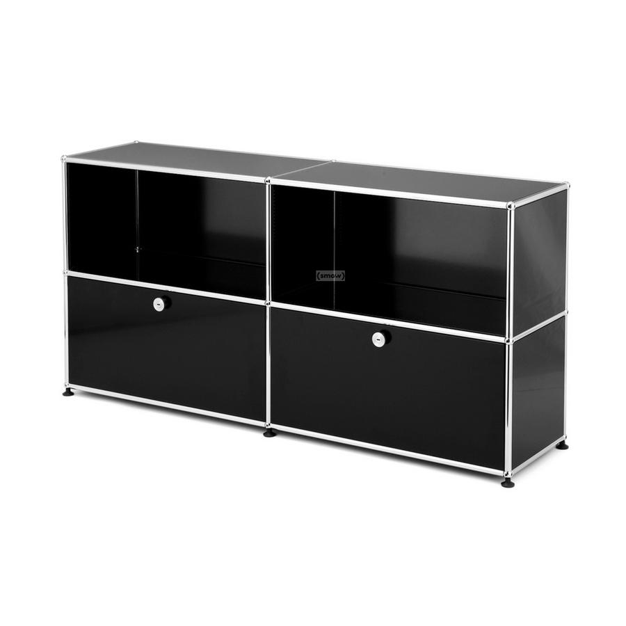 usm haller sideboard l with 2 drop down doors pure orange. Black Bedroom Furniture Sets. Home Design Ideas