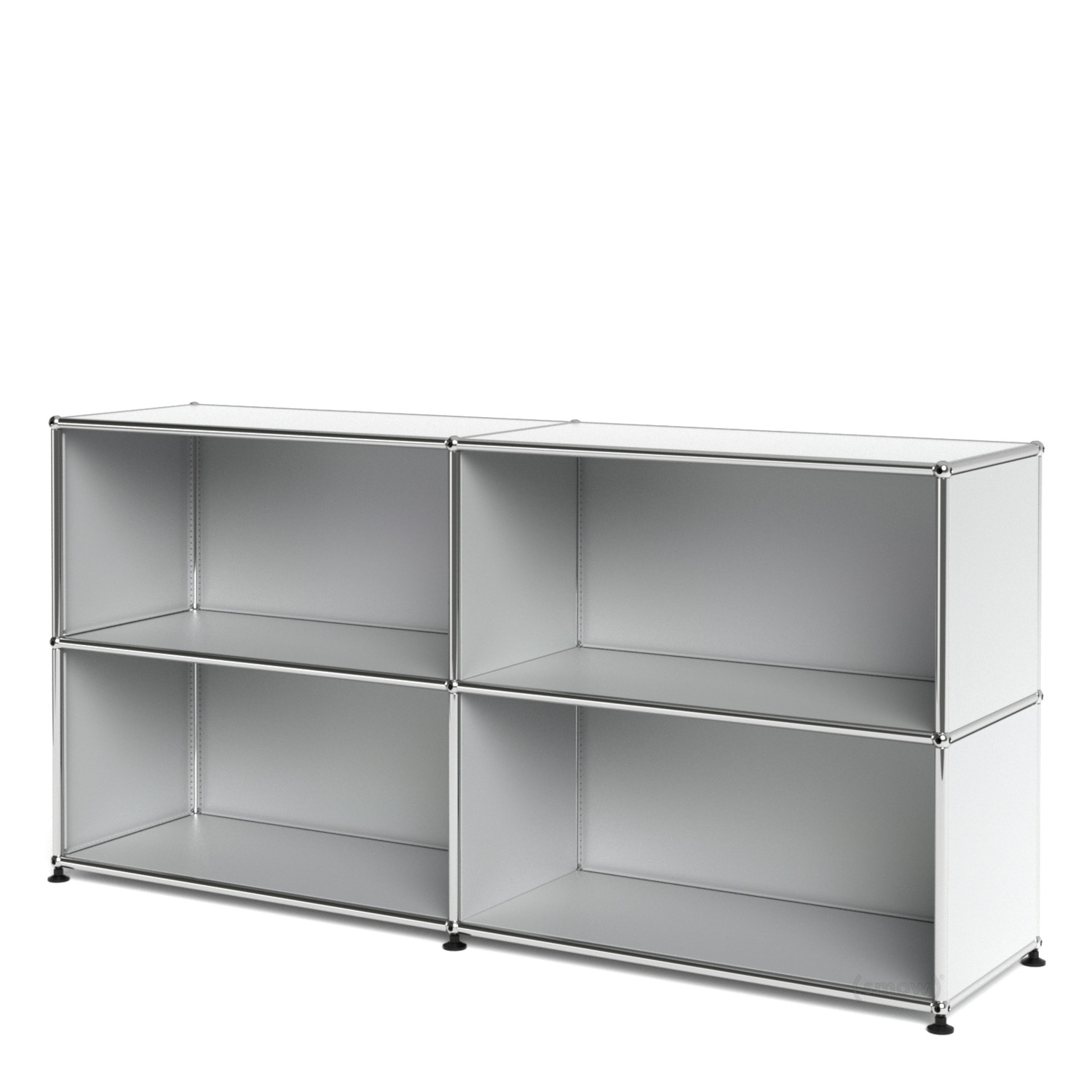 usm haller sideboard l open usm matte silver by fritz haller paul sch rer designer. Black Bedroom Furniture Sets. Home Design Ideas