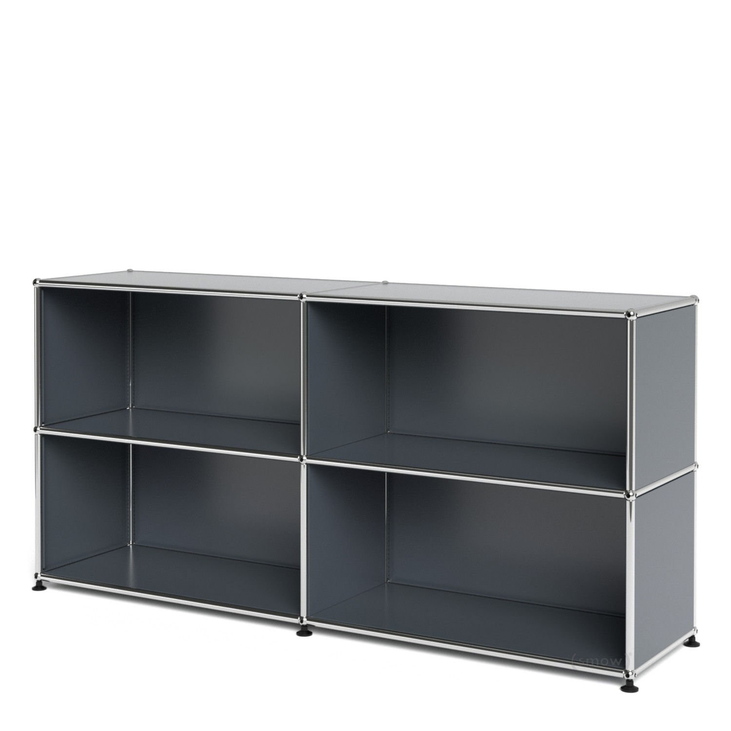 usm haller sideboard l open mid grey ral 7005 by fritz. Black Bedroom Furniture Sets. Home Design Ideas
