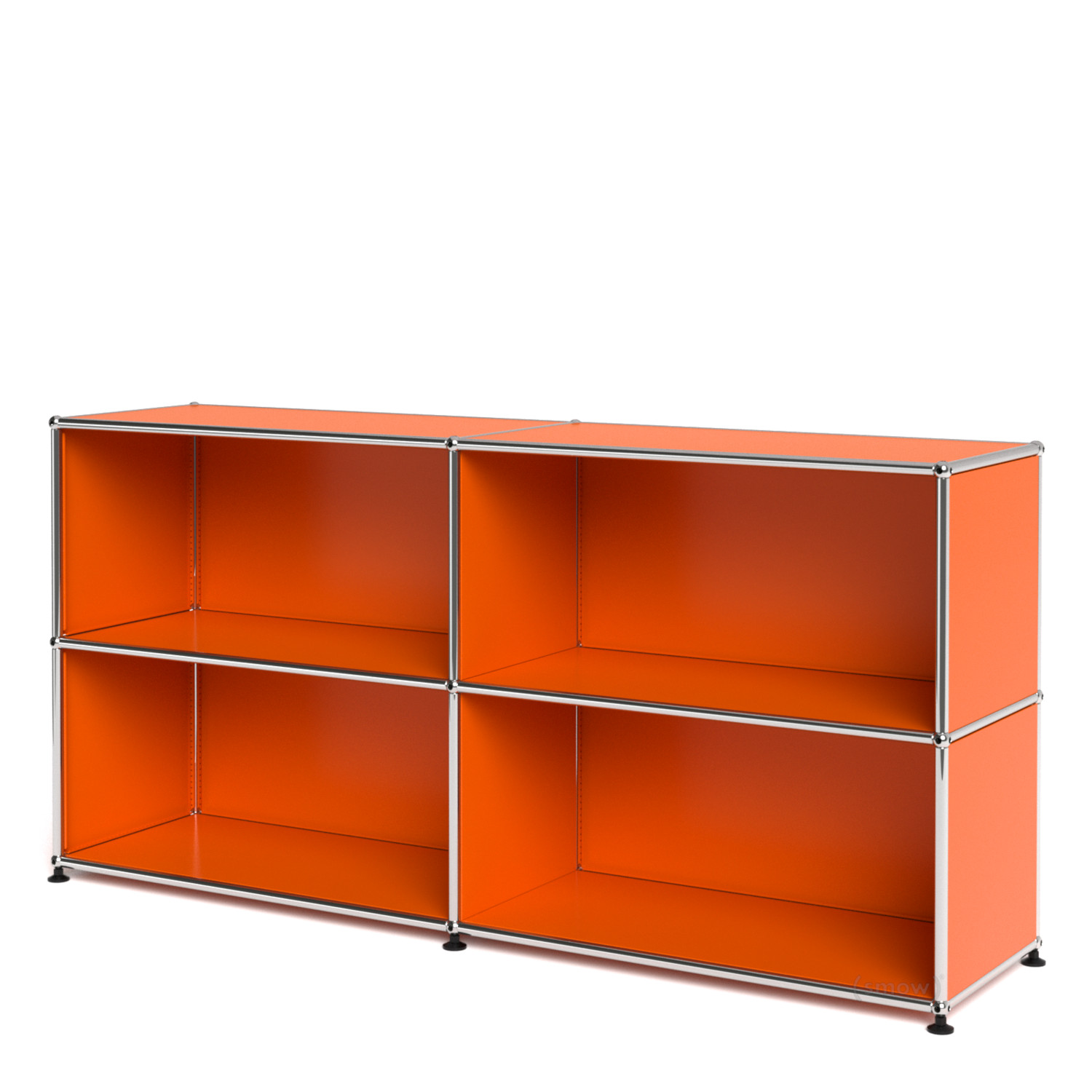 Usm haller sideboard l open pure orange ral 2004 by fritz for Sideboard usm