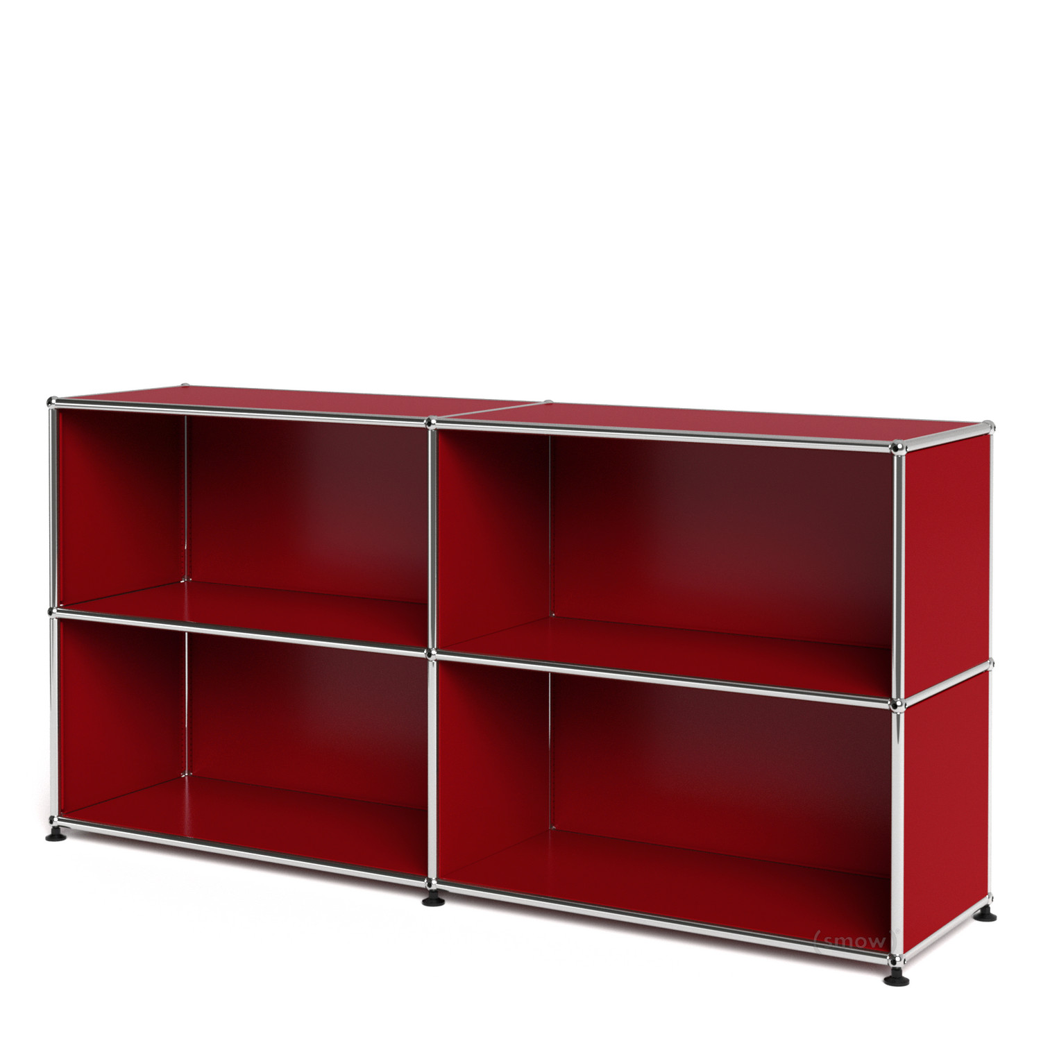 usm haller sideboard l open usm ruby red by fritz haller. Black Bedroom Furniture Sets. Home Design Ideas