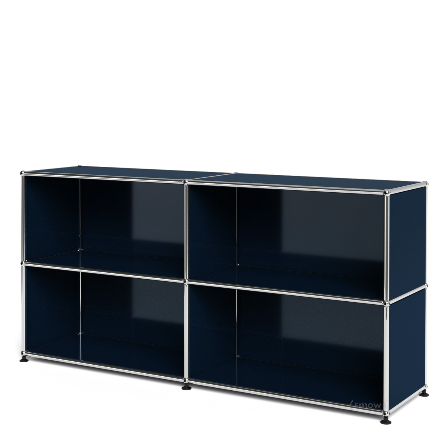 Usm haller sideboard l open steel blue ral 5011 by fritz for Usm haller braun